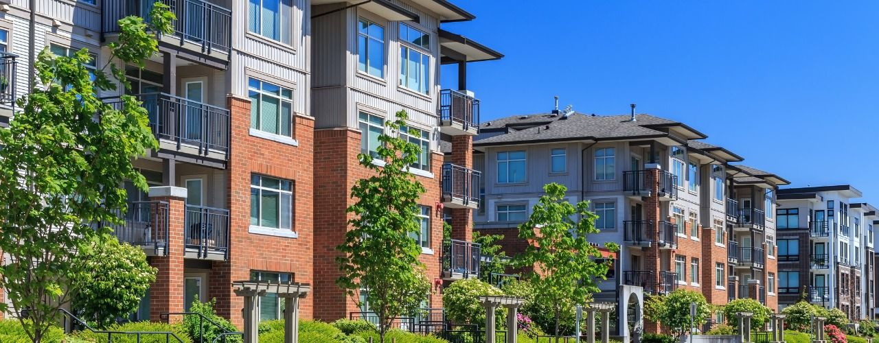Photo of group of apartments in a complex